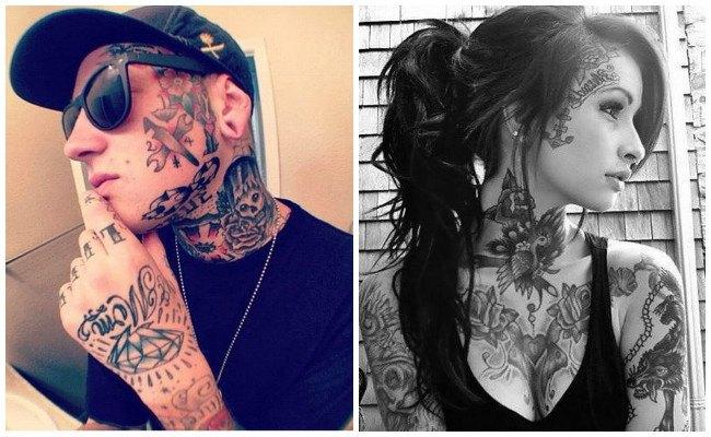Tatuajes en la cara y sus diseños