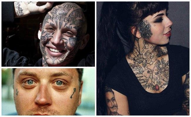 Tatuajes en la cara del hombre