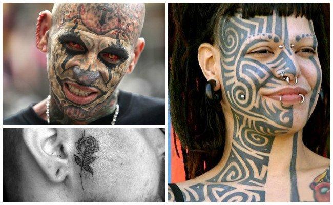 Tatuajes en la cara de la mujer