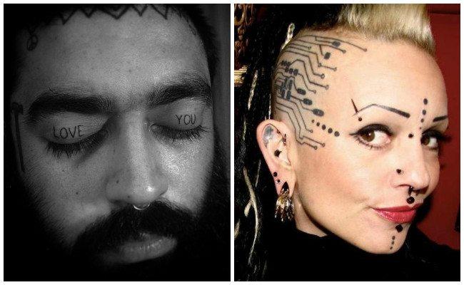Tatuajes en la cara de tribales