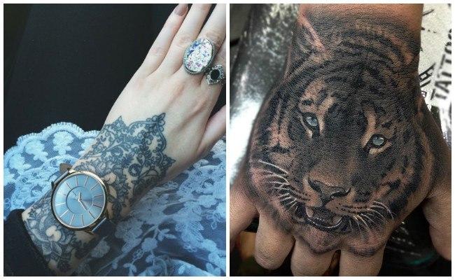 Tatuajes en la mano de amor