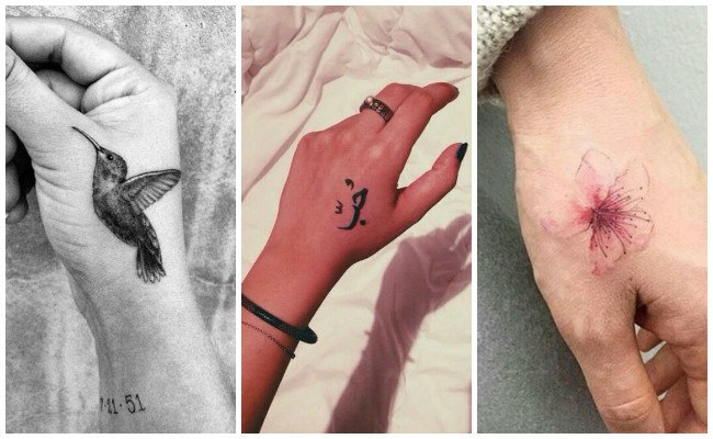 Tatuajes en la mano con nombres