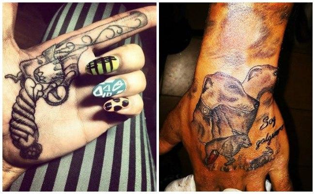 Tatuajes en la mano y si duelen