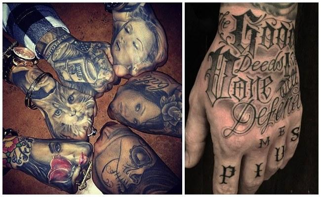 Tatuajes en la mano con fotos