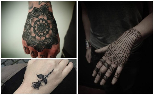 Tatuajes en la mano de leones