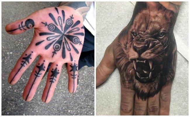 Tatuajes en la mano de letras