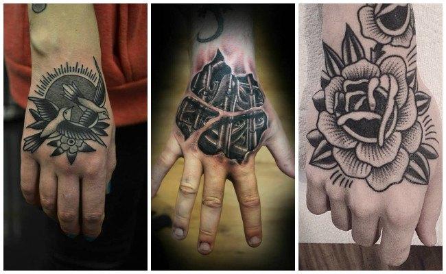 Tatuajes en la mano y la muñeca