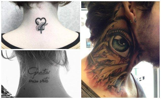 Tatuajes en la nuca de mariposas