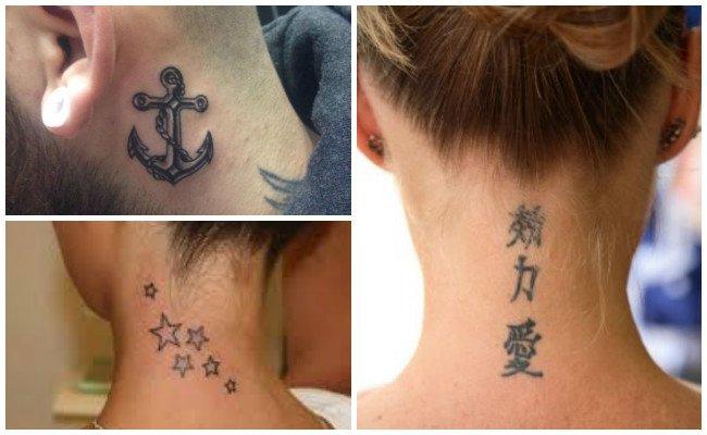Tatuajes En El Cuello Y Nucahombre Y Mujer Imágenes E Ideas