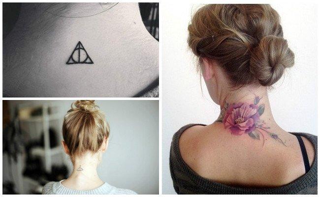 Tatuajes en la nuca pequeños
