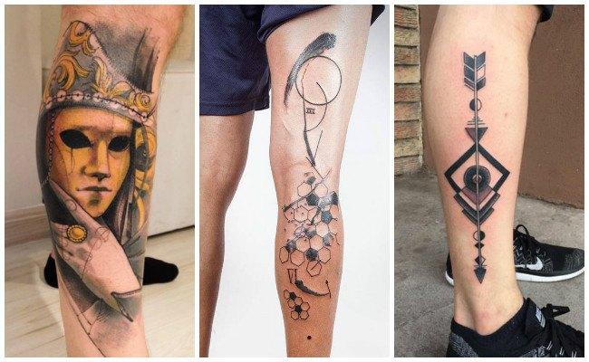 Tatuajes en la pierna de fútbol