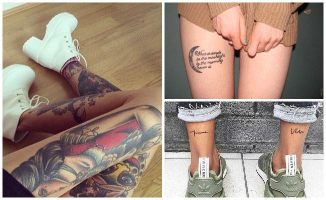 Tatuajes en la pierna tipo maories