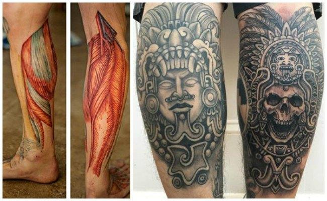 Tatuajes en la pierna con rosas