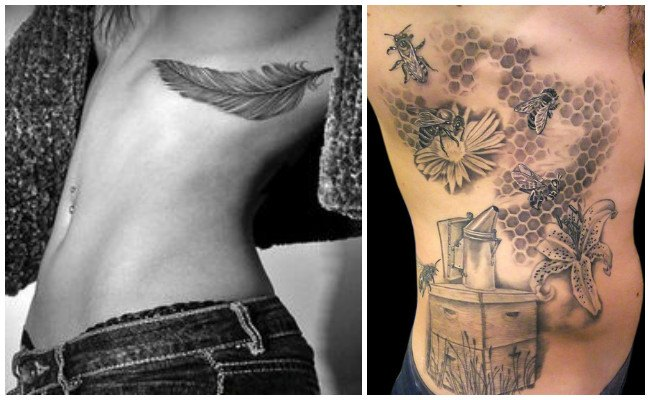 Tatuajes en las costillas con frases