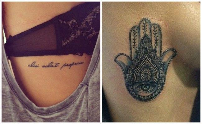 Tatuajes en las costillas de gaviotas