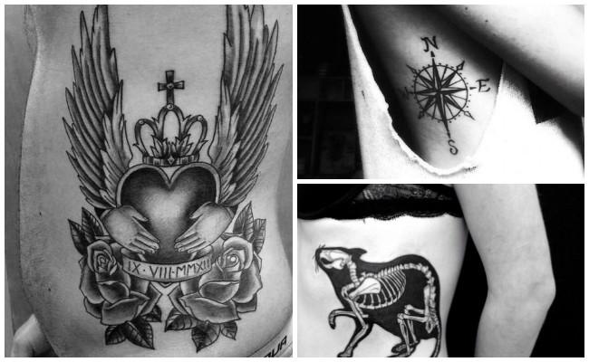 Tatuajes en las costillas con letras