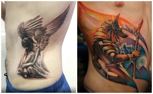 Tatuajes en las costillas con nombres