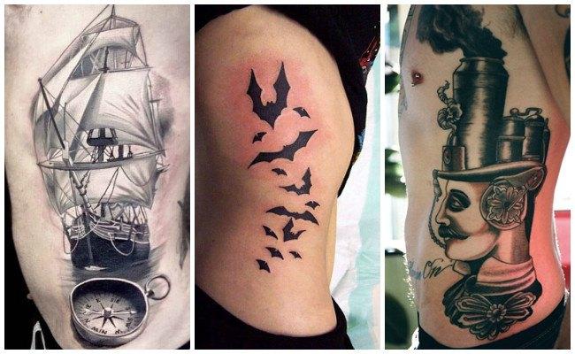 Tatuajes en las costillas con números
