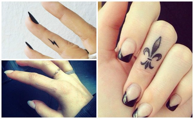 Flower Finger Tattoos