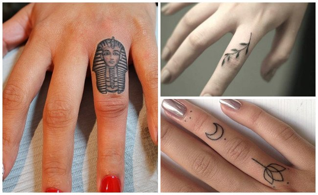 Infinity finger tattoos