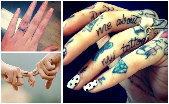 Lettering Finger Tattoos