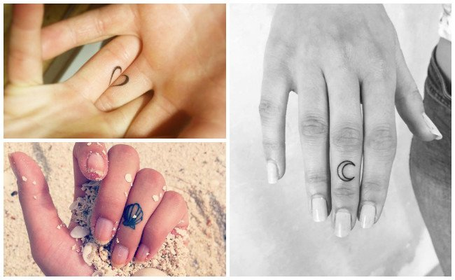 Moon Finger Tattoos