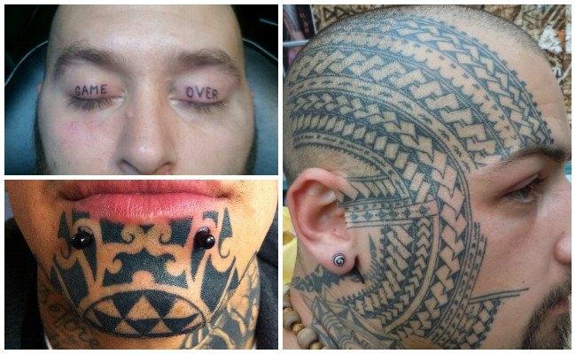Tatuajes en los ojos de la mujer