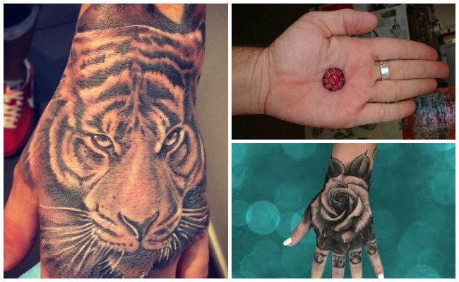 Tatuajes en la mano de estrellas