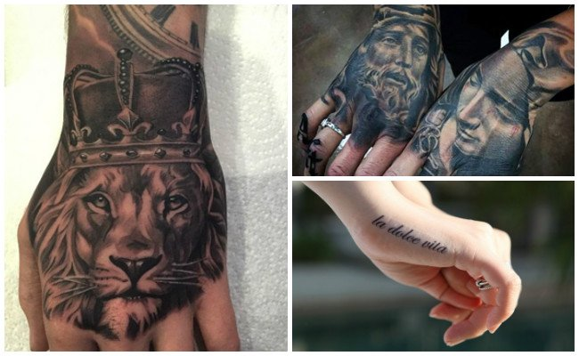 Tatuajes en la mano e imágenes