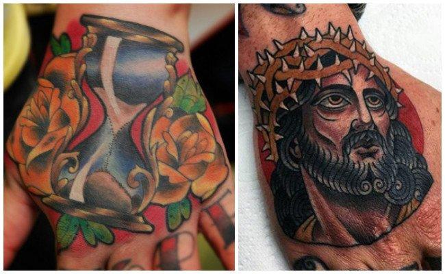 Tatuajes en la mano con mandalas