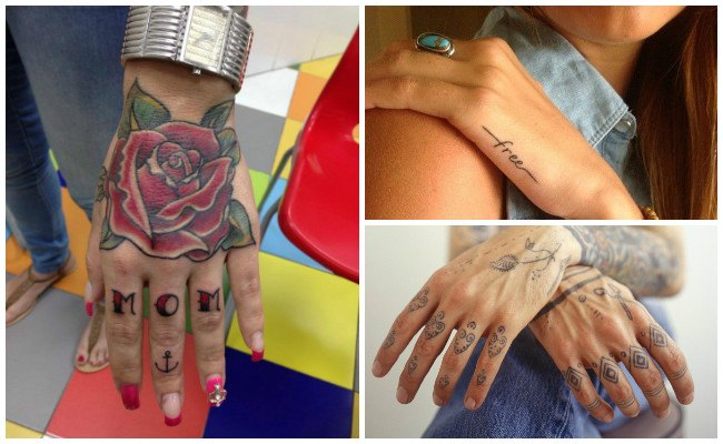 Tatuajes en la muñeca de la mano