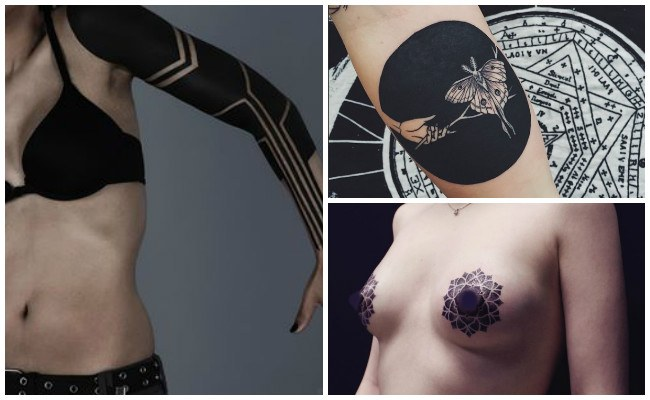 Tatuajes en negro completo