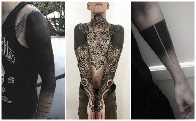 Tatuajes en negro para espalda