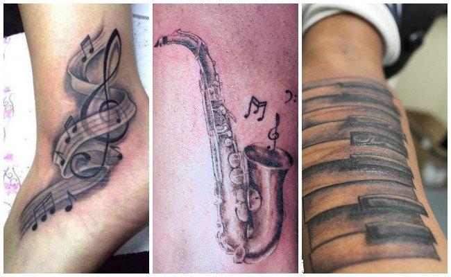 Tatuajes en notas musicales
