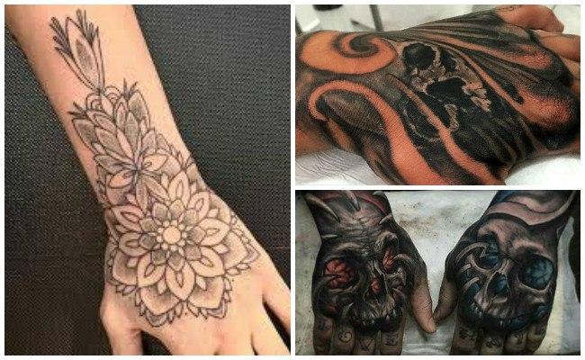 Tatuajes en toda la mano