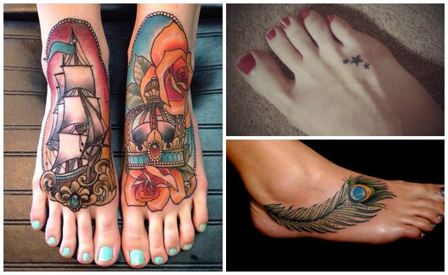 Tatuajes en todo el pie