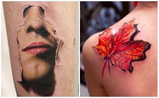 Tatuajes en tres dimensiones para hombres y mujeres