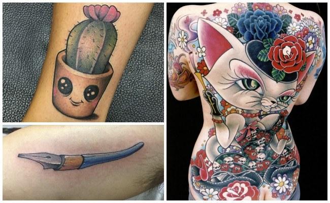 Tatuajes de estilos nueva escuela