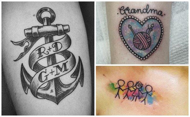 Tatuajes de la familia y sus símbolos
