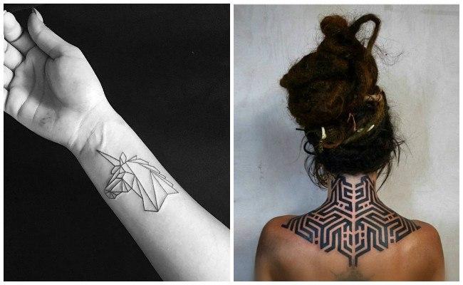 Tatuajes de figuras geométricas