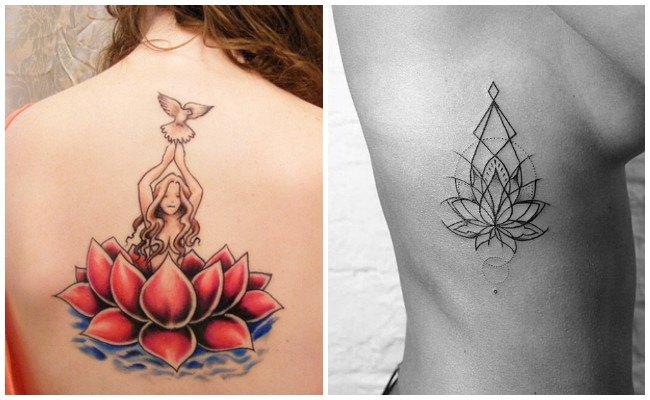 Tatuajes de flor de loto para hombres