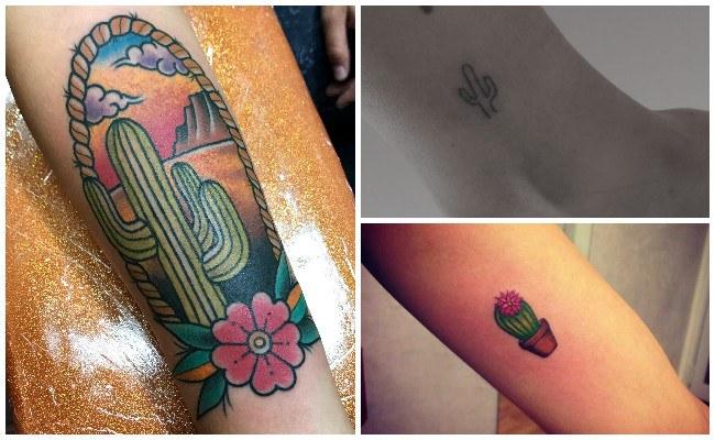 Tatuajes de flores de cactus
