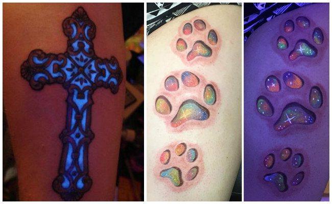 Tatuajes fluorescentes de colores