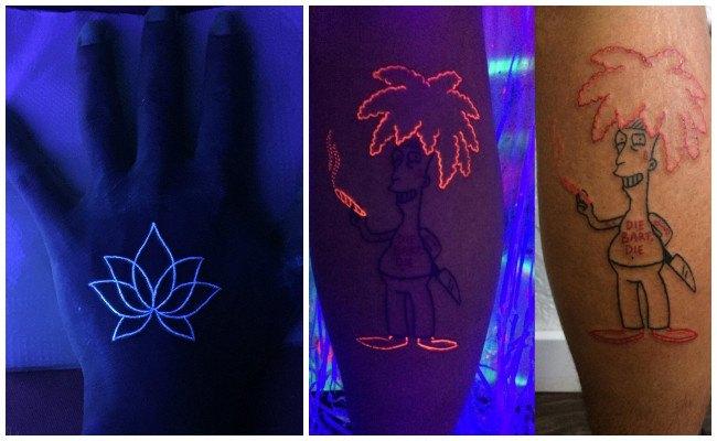 Tatuajes fluorescentes tinta