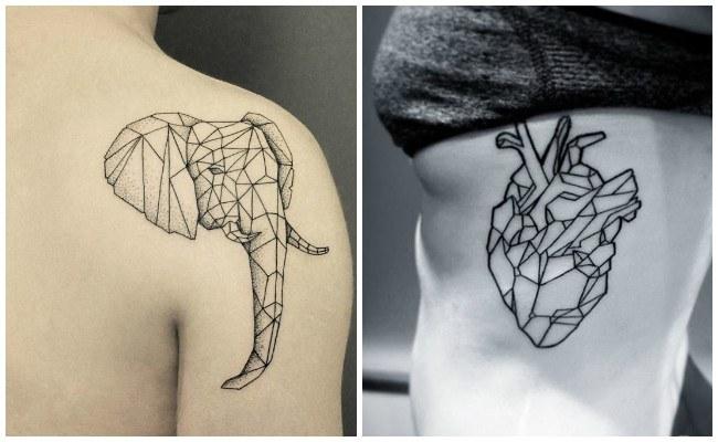 Tatuajes de formas geométricas