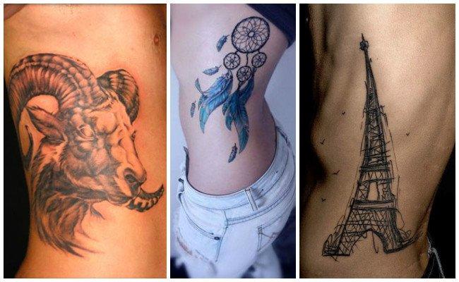 Tatuajes de geishas en las costillas