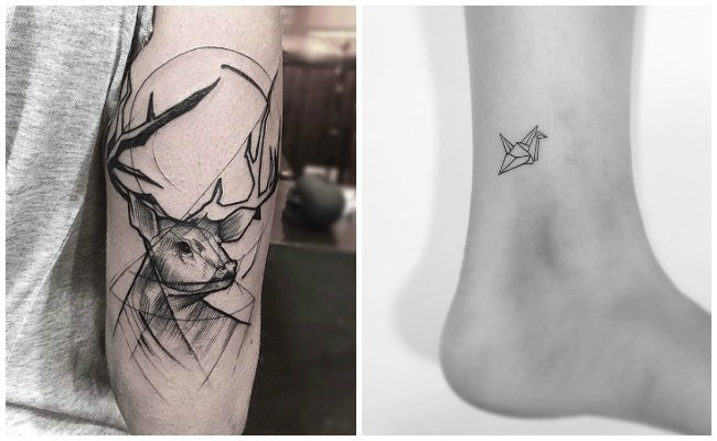 Tatuajes geométricos de mandala