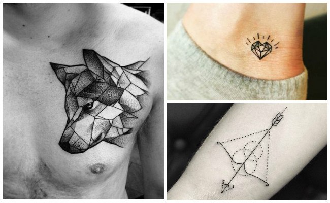 Tatuajes geométricos para mujer