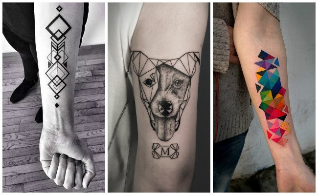 Tatuajes geométricos para hombres