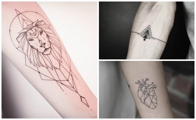 Tatuajes geométricos de triángulos